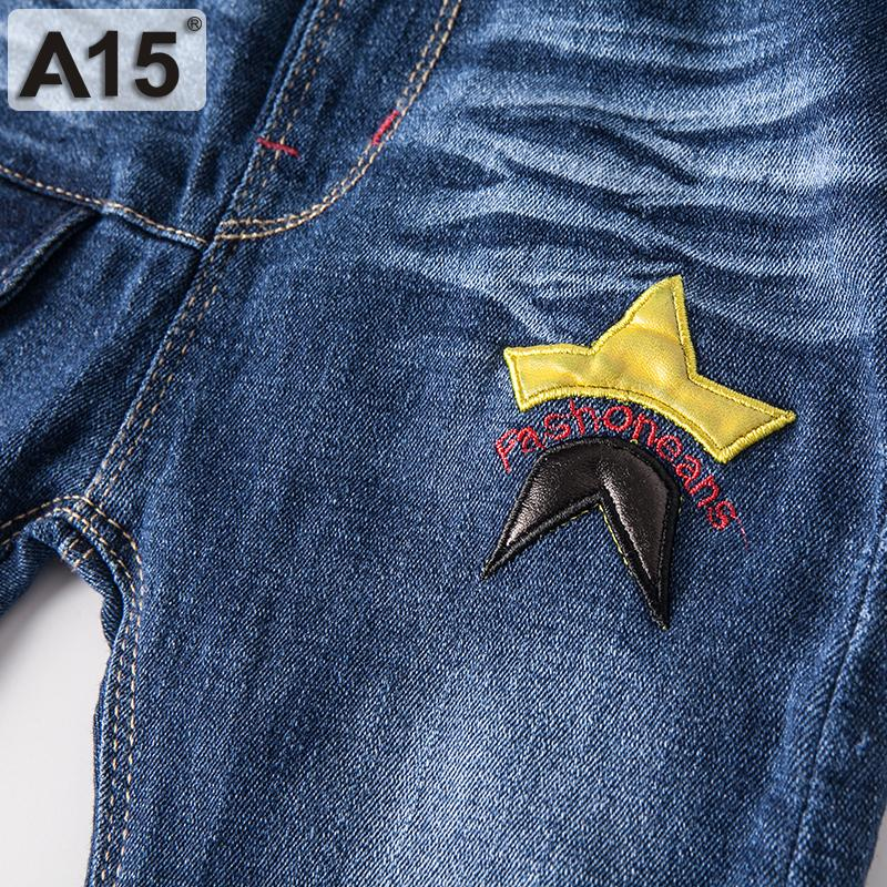 A15 Children Jeans Kids Baby Girl Jeans Trousers Cute Cartoon Pattern Kids Jeans Pants For Girl Trousers Children Clothing 2 3 4