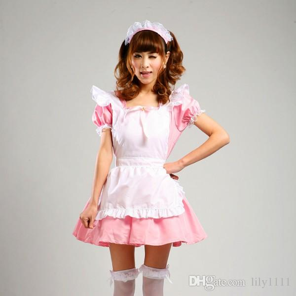 Shanghai Story Pink Maid Cosplay Costumes Japanese Anime Cosplay For Women Girls  Lolita Dress Restaurant Uniforms Set Halloween Costume Group Costume Party  ... 926b63428674