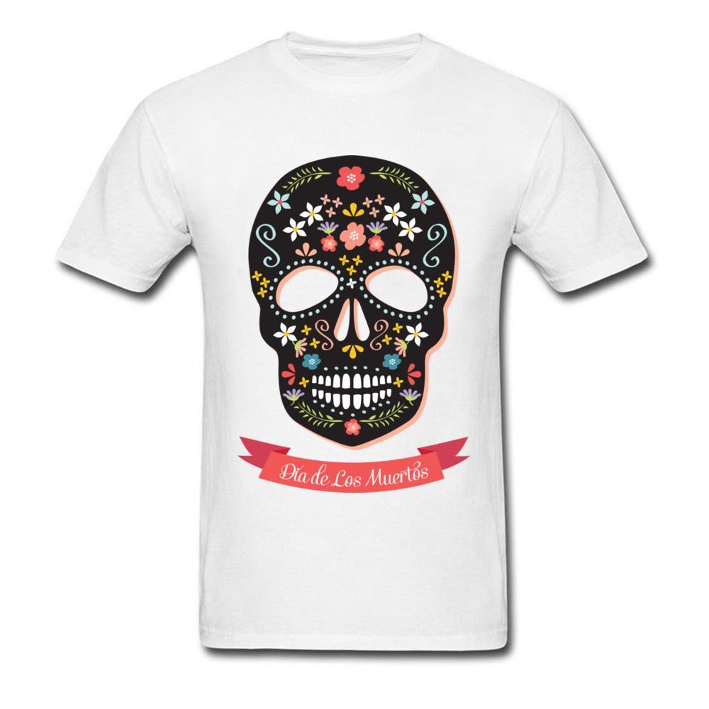 62619571fef Sugar Skull Tshirt Men S Fashion T Shirt Taille Plus Size XXXL Homme Tee  Shirt Mexico Floral Skull 3D Print T Shirts Cutsom Funny Shirts Dress Shirt  From ...