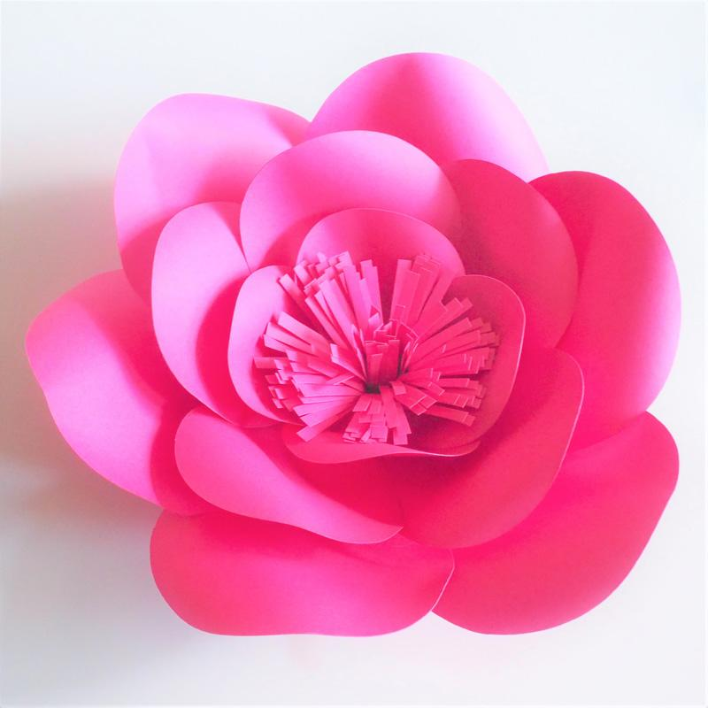 1 Piece Half Made Giant Paper Flowers Diy Full Kits For Wedding Event Backdrops Deco Baby Nursery With Video Tutorials