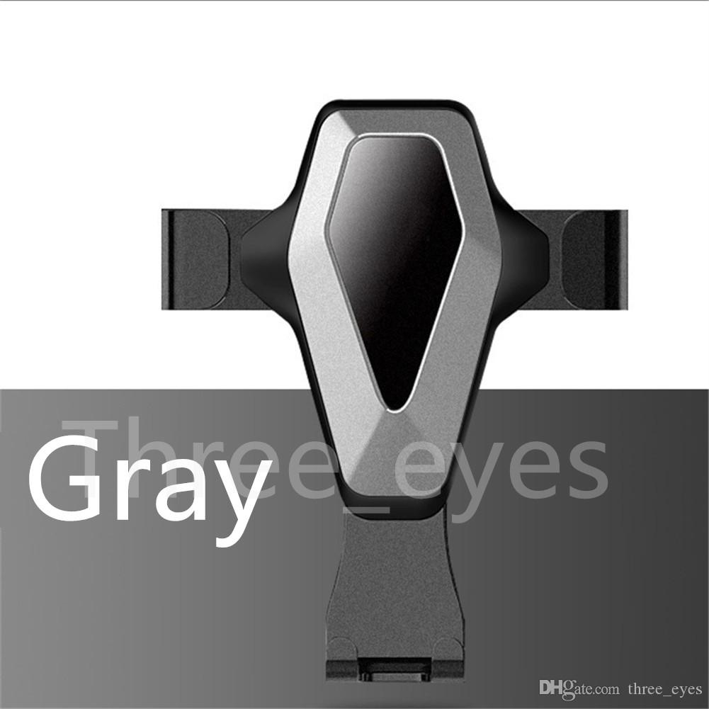 Universal Auto Locking Gravity Air Vent Car Mount Metallic Simple Sense Car Holder Multi-angle Car Mobile Phone Stand Free Shipping