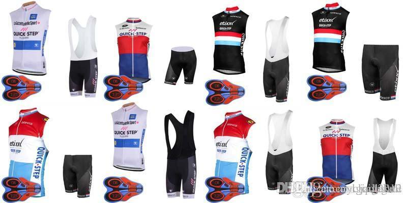 32ce290b2 2018 Quick Step Pro Cycling Jersey Bib Shorts Set Cycling Clothing  Breathable Mountain Bike Clothes Summer Quick Dry Bicycle Sportswea D1412 Cycling  Rain ...