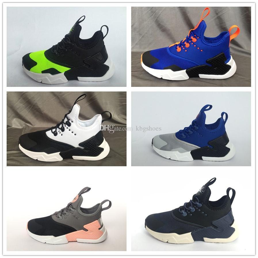 552b734b0142 2018 Children Shoes Air Huarache 4.0 Classical Triple Youth Boys Girls  Huarache Sports Shoes Baby Kids Sneakers Running Shoes Size 28 35 Shoes  Kids Kids ...