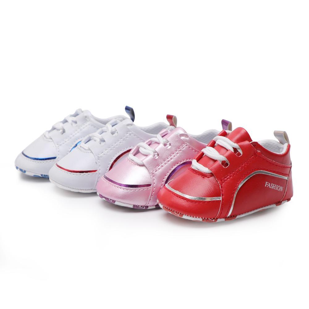 Nouveau né bébé garçon chaussures enfant en bas âge chaussures baskets en cuir PU bébé berceau fille premiers marcheurs 0 18 mois