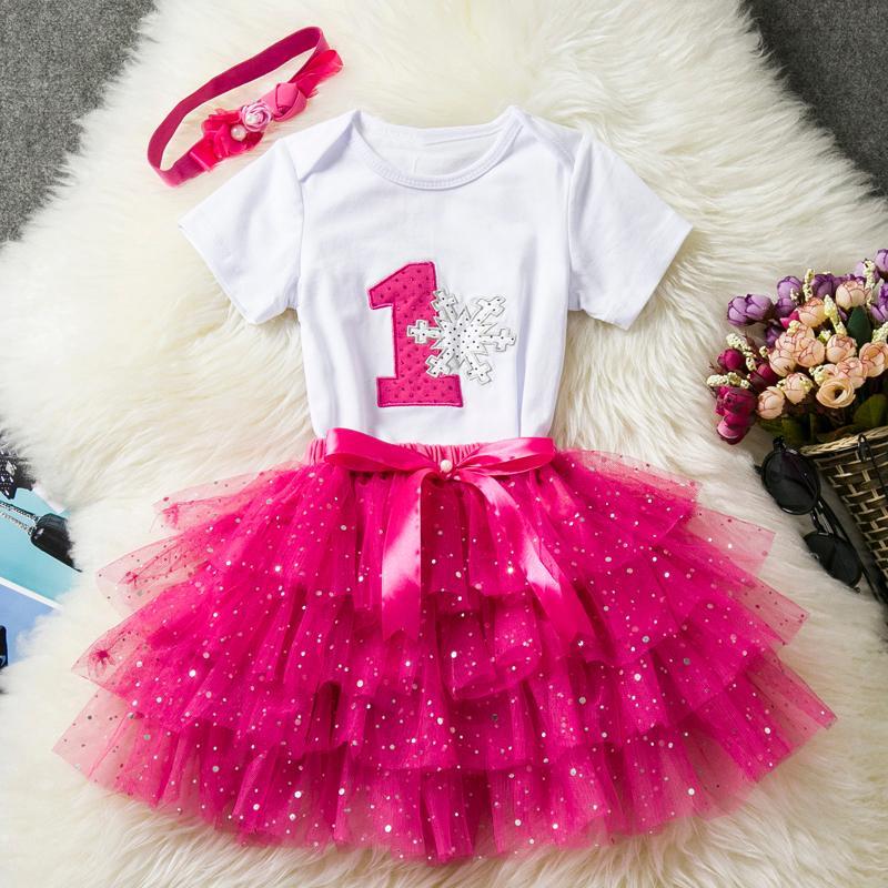 Compre Conjuntos De Ropa De Bebé Baby Girl Primer Año Vestido De ...