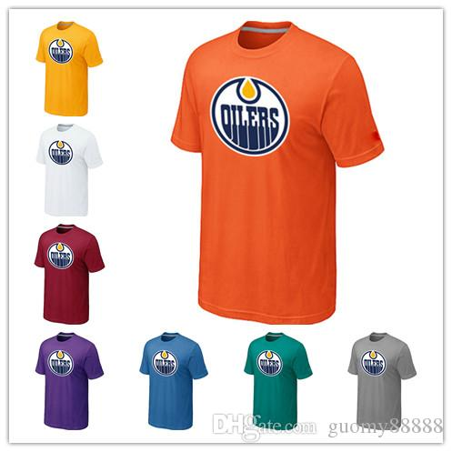fb25fe17c4b News Edmonton Oilers Ice Hockey T-shirt for Men And Women In the ...