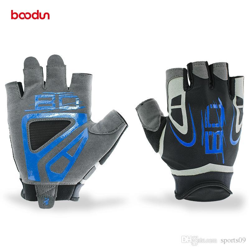 BOODUN Men s Half Finger Gym Gloves for Fitness Sports Crossfit Gloves  Weight lifting Dumbbell Barbell Bodybuilding Training Gym Gloves