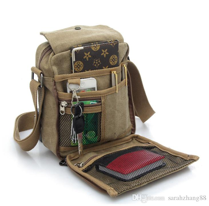 Men S Multifunctional Canvas Messenger Handbag Outdoor Sports Travel Over  Shoulder Crossbody Side Bag Black Handbags Weekend Bags From Sarahzhang88 c0ff401ef9da