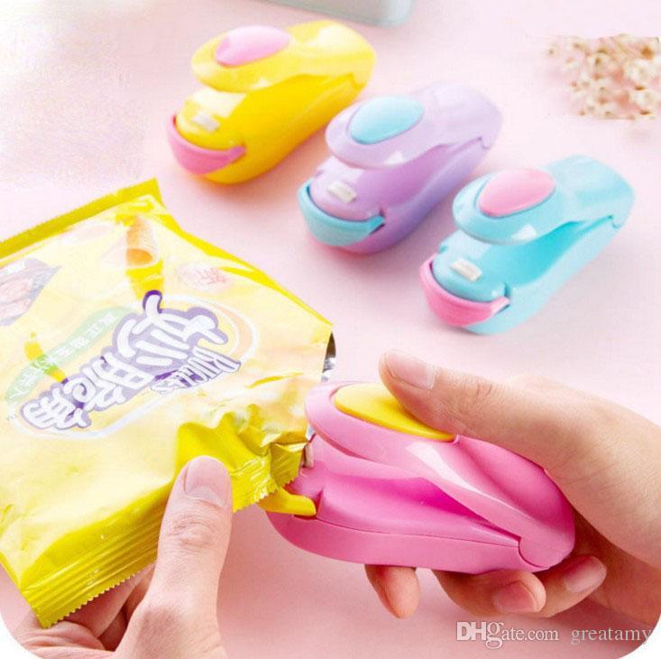 Magic cute mini sellado térmico mashine sellador implícito embalaje bolsa de plástico kit de herramientas herramientas de envío gratis