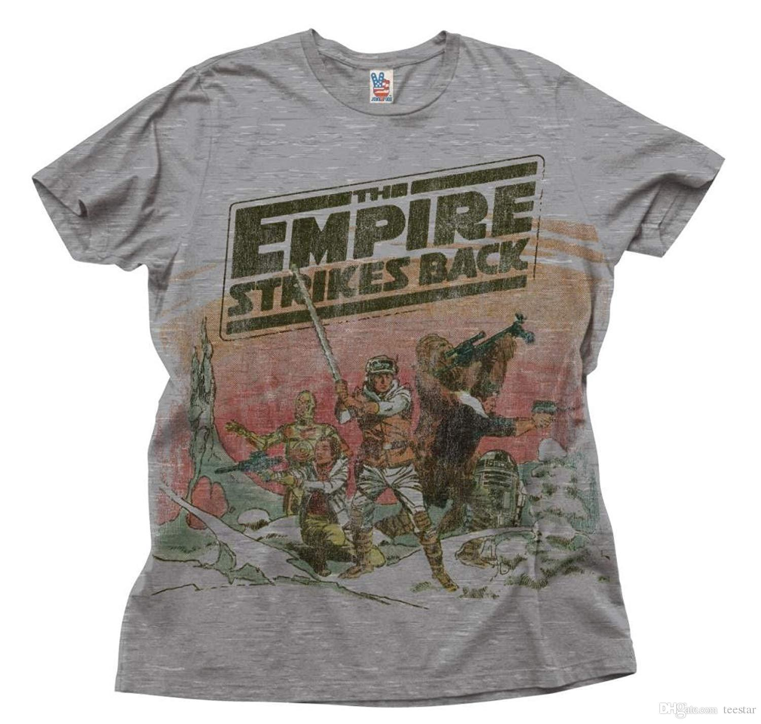 f8a609cc1c1eb8 Factory Outlet The Empire Strikes Back Heather Taupe Adult T Shirt Good  Quality Brand Cotton Shirt Summer Style Cool Shirts Print T Shirt Slogan T  Shirts ...