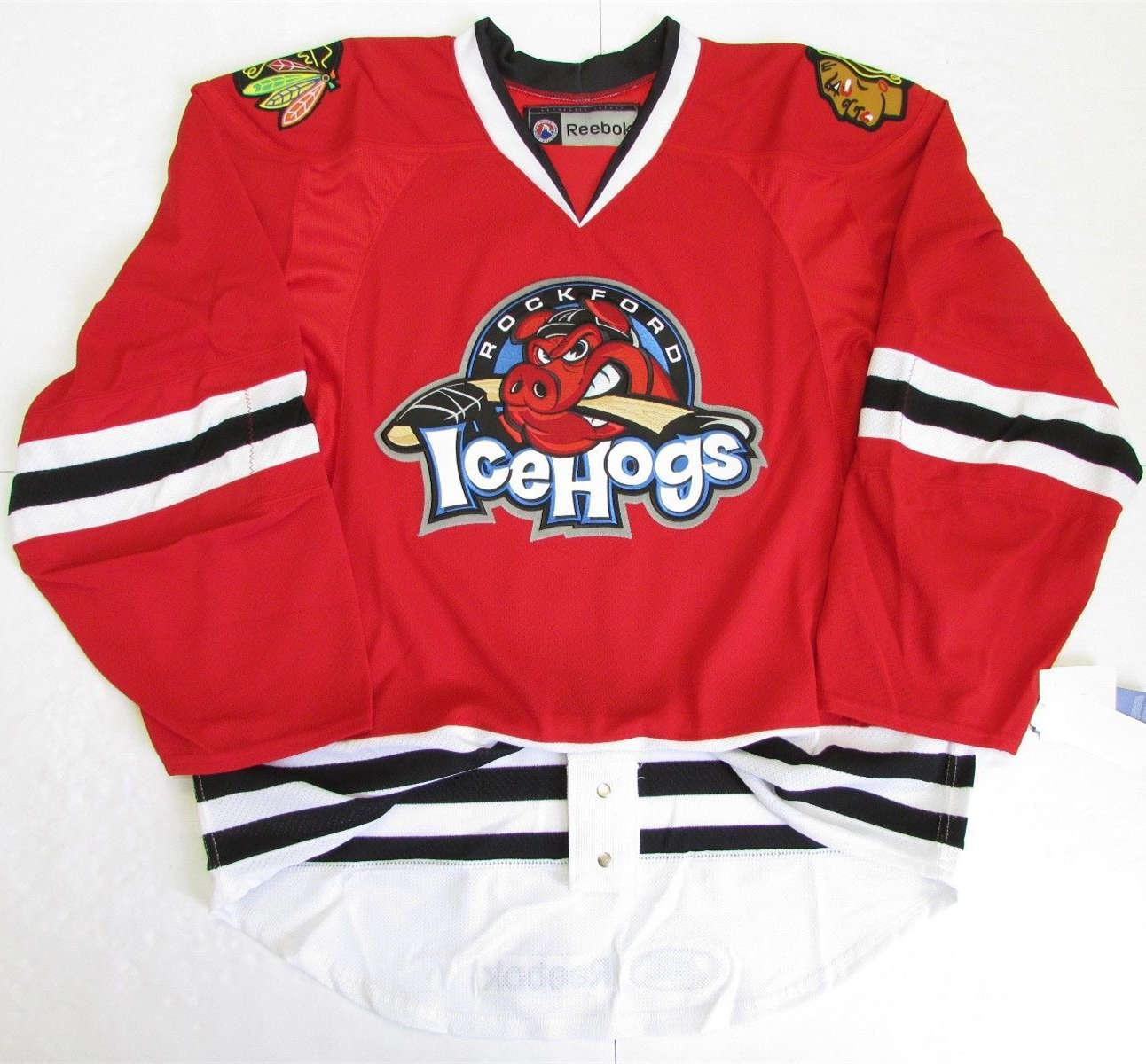 44b5d5a0f7b 2019 Rockford IceHogs Premier Hockey Jersey Embroidery Customize Any Number  And Name Custom Goalie Cut Goalit Mens Womens Youth Hockey Jerseys From  Fanatics ...