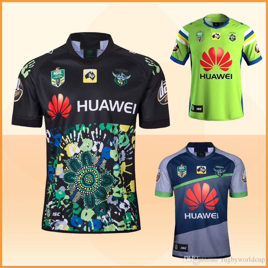 9daeb3c81 New 2018 NRL Canberra Raiders Rugby Jerseys Home And Away Raiders ...