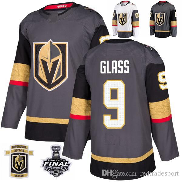 half off 8800d 6bf41 2018 Stanley Cup Final Vegas Golden Knights Cody Glass Hockey Jerseys  Stitched 9 Cody Glass Jersey Customize Home Grey Jerseys