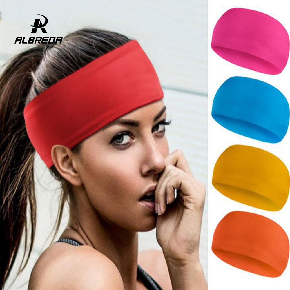 ALBREDA Multicolor Yoga Headband Women Fitness Sport Sweat Belt Silicone Gym  Jogging Elastic Stretch Hairband Hair Accessories UK 2019 From  Qingteawater e8a10ab112