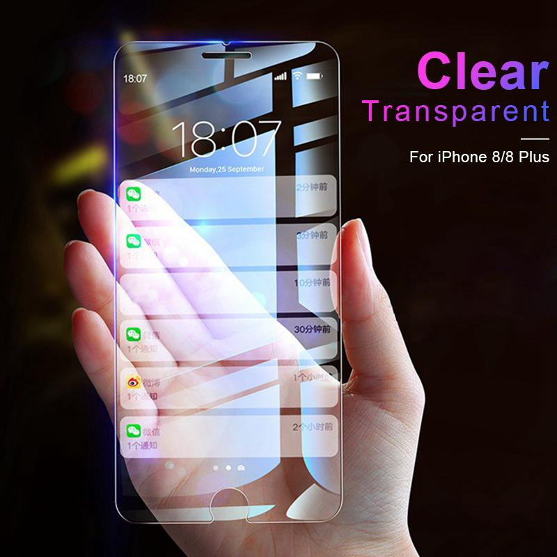 buy online 30270 180e1 AOXIN 9H Clear HD Screen Protector For iPhone 8 Plus Tempered Glass On The  For Apple iPhone 8 Plus Glass Anti Blue Light Film