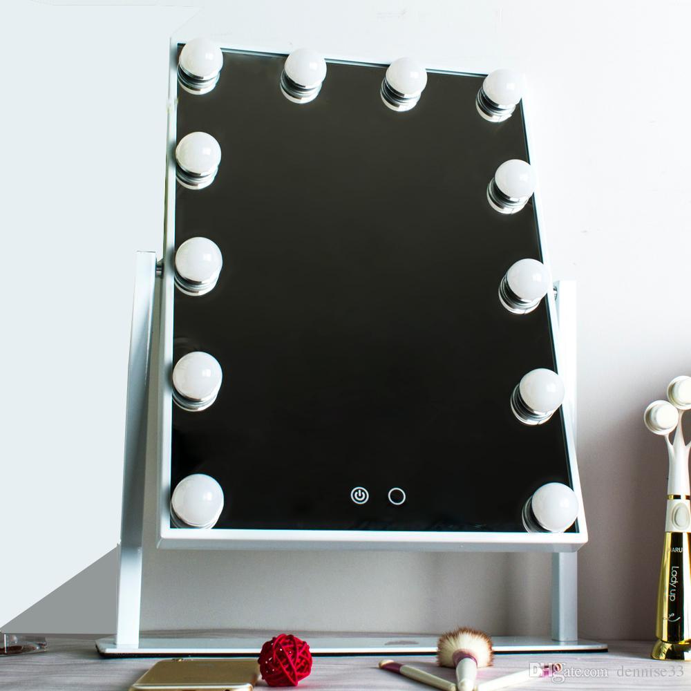Specchi Con Luci Per Trucco.Acquista Specchio Il Trucco Di Hollywood Con Luci In Alluminio