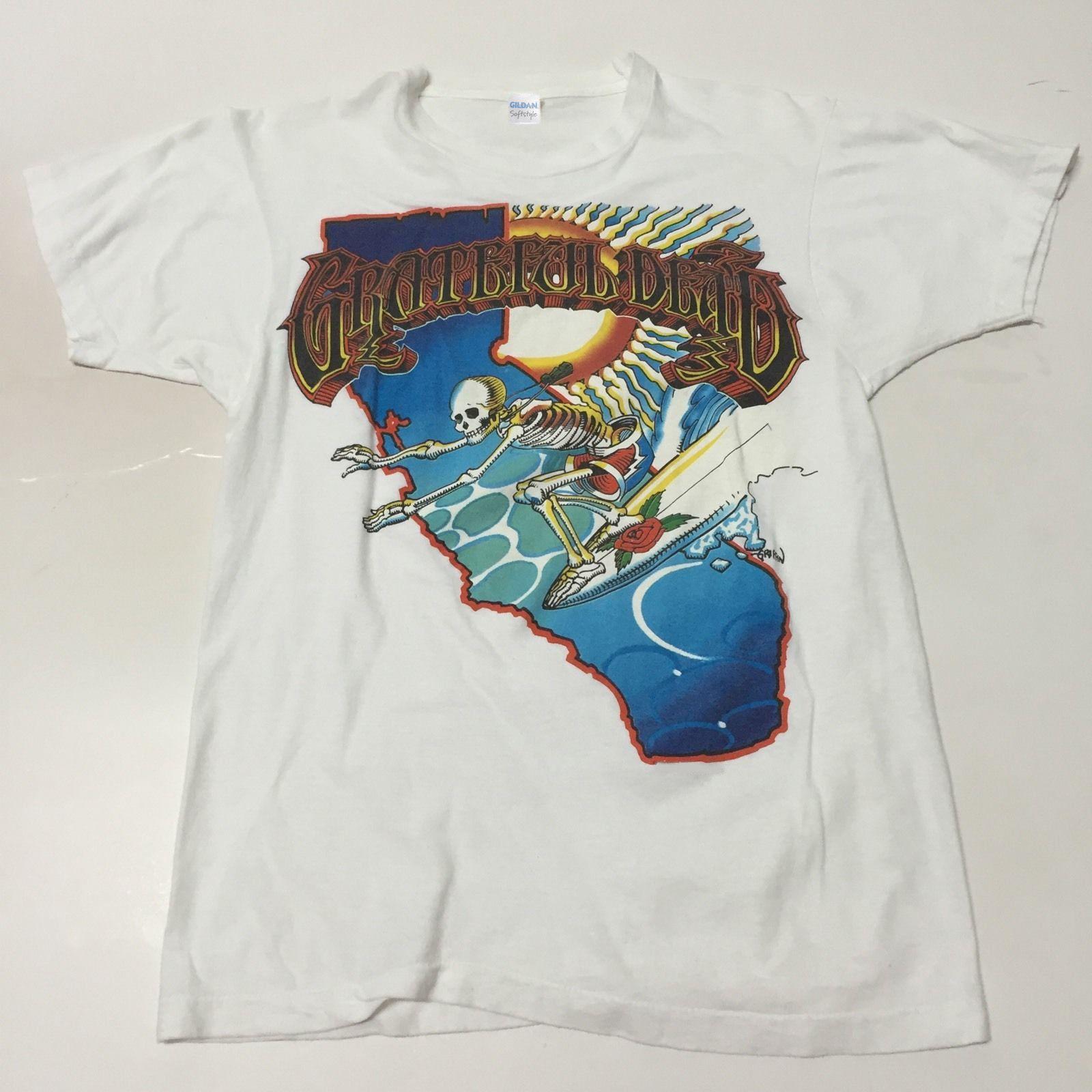 258892d51 Grateful Dead T Shirt Rick Griffin Art Surfing Skeleton SurfBoar USA SIZE  Print Shirt Long Sleeve Tee Shirts From Printkrd, $10.38| DHgate.Com