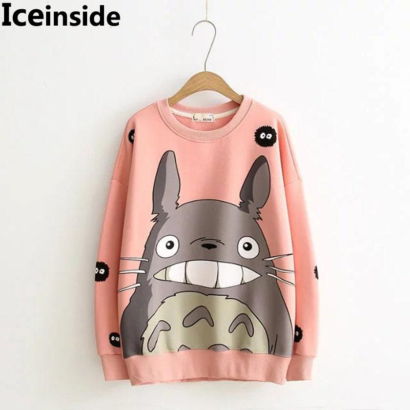 Women Harajuku Pink Hoodie Womens Cute Cartoon Totoro Sweatshirts Lady  Casual Fashion Pullover Hoody Tops Femme Tricot Pull UK 2019 From  Pulchritude c74d0bfc56
