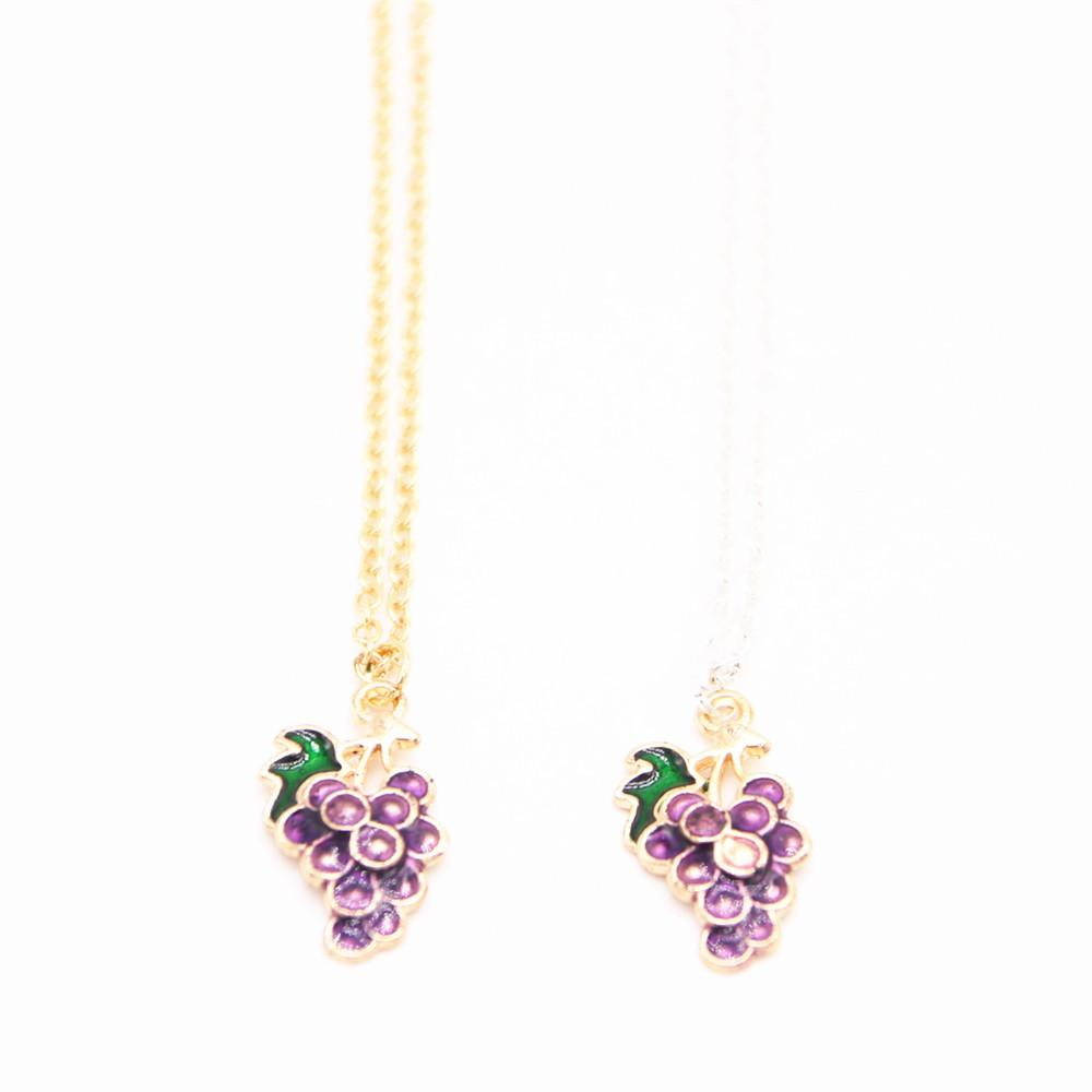 2018 The latest elements pendant necklace Grape form plated necklace attractive gifts for women