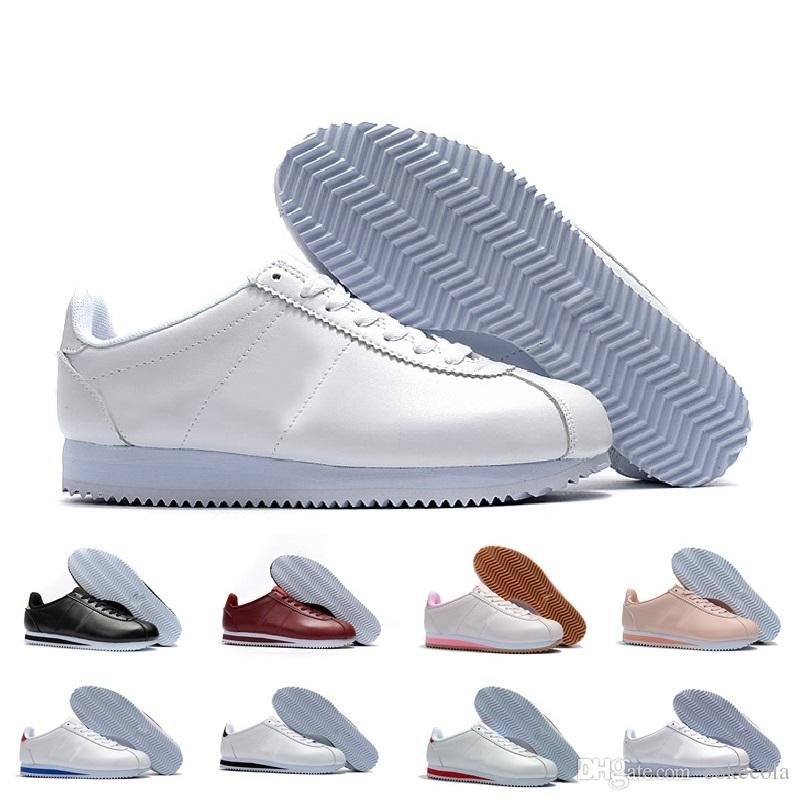 best service ab3b1 4b9f7 Acheter Nike Livraison Gratuite Chaude Nouvelles Marques Casual Chaussures  Hommes Et Femmes Chaussures De Cortez Loisirs Shells Chaussures En Cuir De  Mode ...