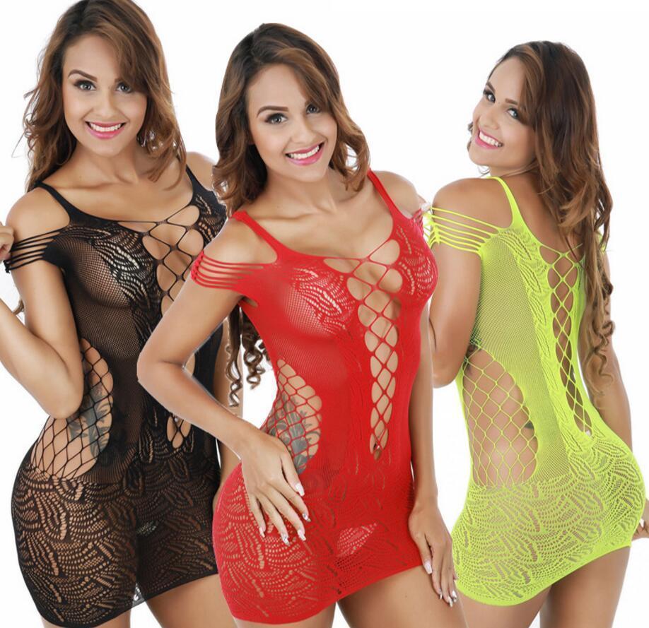 705ec1816 Sexy Net FishNet Body Stockings Lingerie Nightwear Underwear Babydoll Plus  Size  R87 Luxury Silk Nightwear Men Silk Pajamas From Aesto