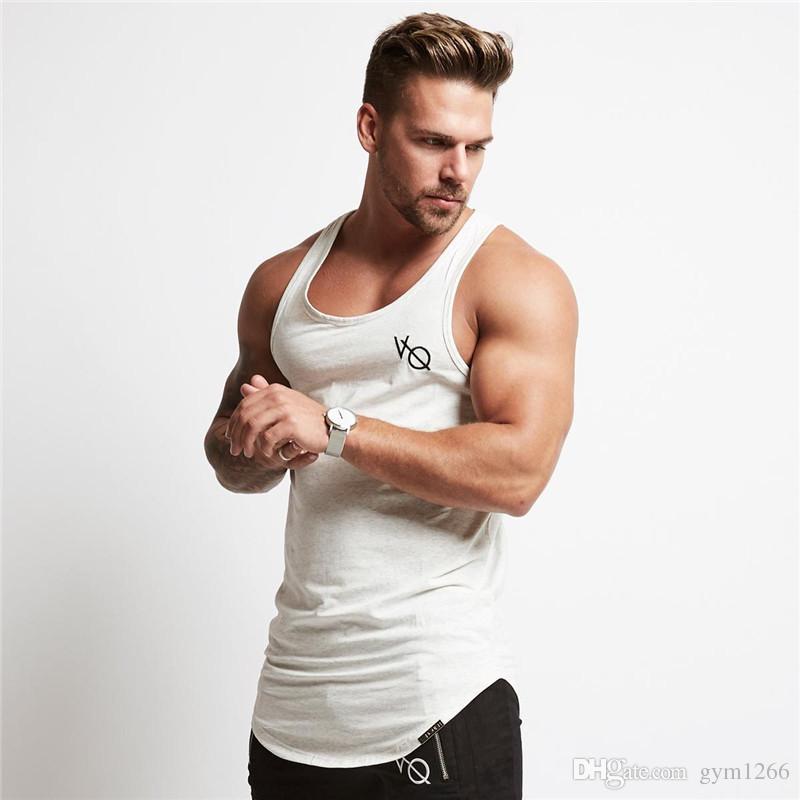 b7f2b08fcce44d New Mens Sleeveless Tank Tops Summer Print VQ Cotton Male Tank Tops Gym  Sport Clothing Bodybuilding Undershirt Golds Fitness Tank Top Womens Shirt  T Shart ...