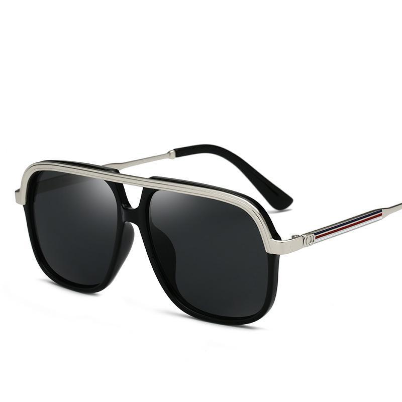 c6efc71a07 Compre Gafas De Sol De Moda De Los Hombres Gafas De Sol De Marca De Metal  Gafas De Sol De Color Negro Gafas De Sol De Diseño Gafas De Exterior Unisex  UV400 ...
