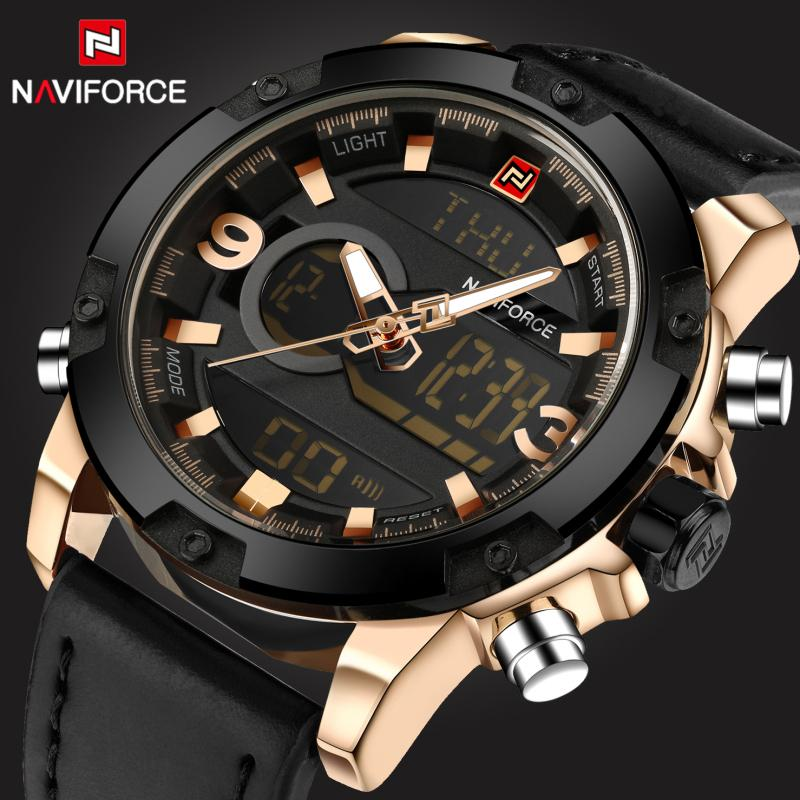 Uhren Männer Uhren Luxus Marke Naviforce Mode Herren Quarz Analog Led Uhr Mann Sport Army Military Armbanduhr Relogio Masculino