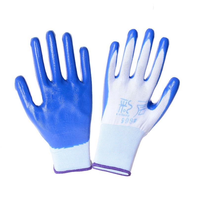 Oil Resistant Gloves >> 2019 Oil Proof Gloves 13 Pin Nylon Wear Resistant Cut Proof