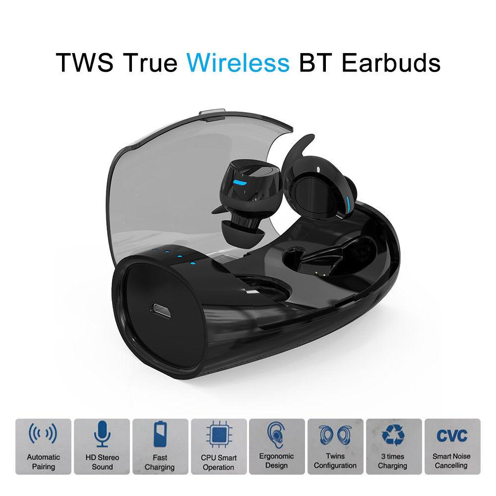 b2fa227b91a Blueskysea S60 TWS True Sport Headset Earphone Wireless Bluetooth Earbuds  Stereo In Ear W/ Charging Case For IOS Android Phone Best Bluetooth  Headphones ...