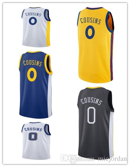 54aa69310 free shipping 2018 new season mens college basketball jersey 0 demarcus  cousins golden state blue white