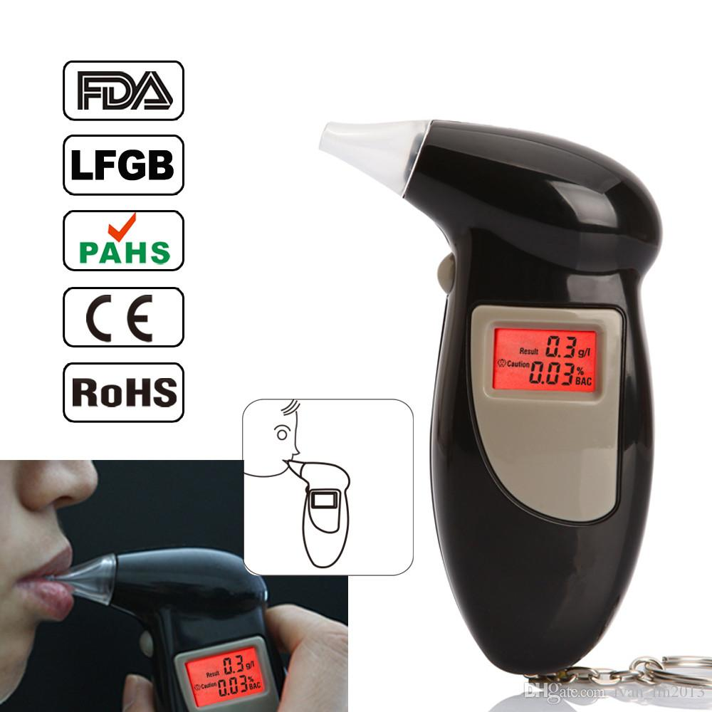YENTL car Police Alcohol Tester Backlight display Alcohol Breath Analyzer Digital Breathalyzer with 5 mouthpiece Drop Shipping