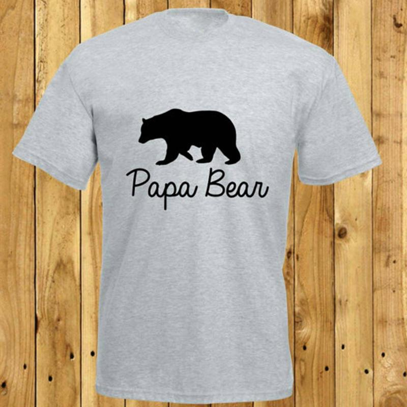 Wholesale Discount Papa Bear Tshirt Fathers Day Gift Daddy Birthday Present Gifts For Men Father New Dad Good Quality Tees Design T Shirt Of The