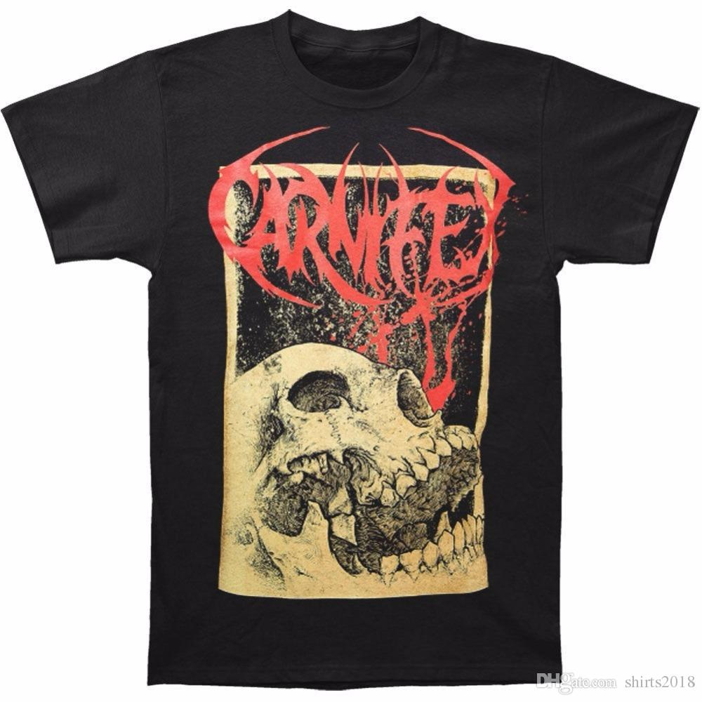 Cheap Tee Shirts Novelty Carnifex Slow Death Print Top Tee Round Neck Casual T Shirt For Men Crew Neck Short-Sleeve Mens Tees
