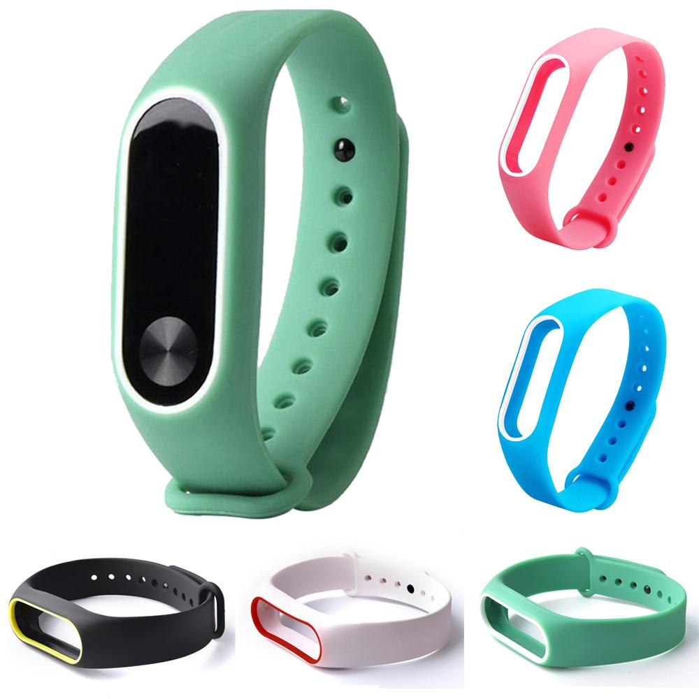 Watch Accessories Watchbands Colorful Silicone Wrist Strap Bracelet For Mi Band 2 Double Color Replacement Watchband Smart Band Accessories For Xiaomi Mi2 A Great Variety Of Models