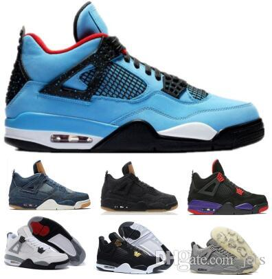 7ff42712fc1694 Hot Basketball Shoes 4 4s Mens Womens IV Black Cement Kaws Bred Denim  Cactus Jack Alternate Eminem 2018 Travis Designer Sport Sneaker Shoe  Basketball Shoes ...