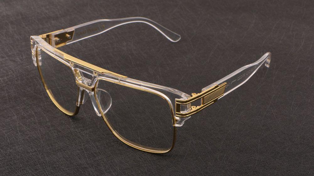 51ba4560e6 Oversized Luxury Squre Metal Eye Glasses Frames Men Women Brand Designer  Reading Glasses Transparent Frame Funky Eyeglass Frames Italian Eyeglass  Frames ...