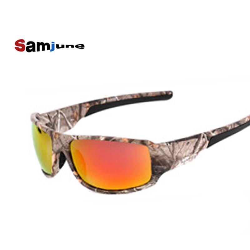Compre Samjune 2017 Polarizada Óculos De Sol Das Mulheres Dos Homens De  Pesca Esporte Condução Óculos De Sol Marca Designer De Camuflagem Quadro De  Sol De ... a219f7e2bb