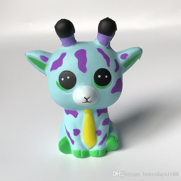 2018 Hottest Squishy Sika Deer Slow rising Deer Scented Cell phone straps Slow rebound sika deer Decompression toy DHL Free