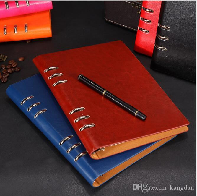 Vintage Leather Travel Journal Notebook school supplier stationery notepad spriral business books office student writing notebooks