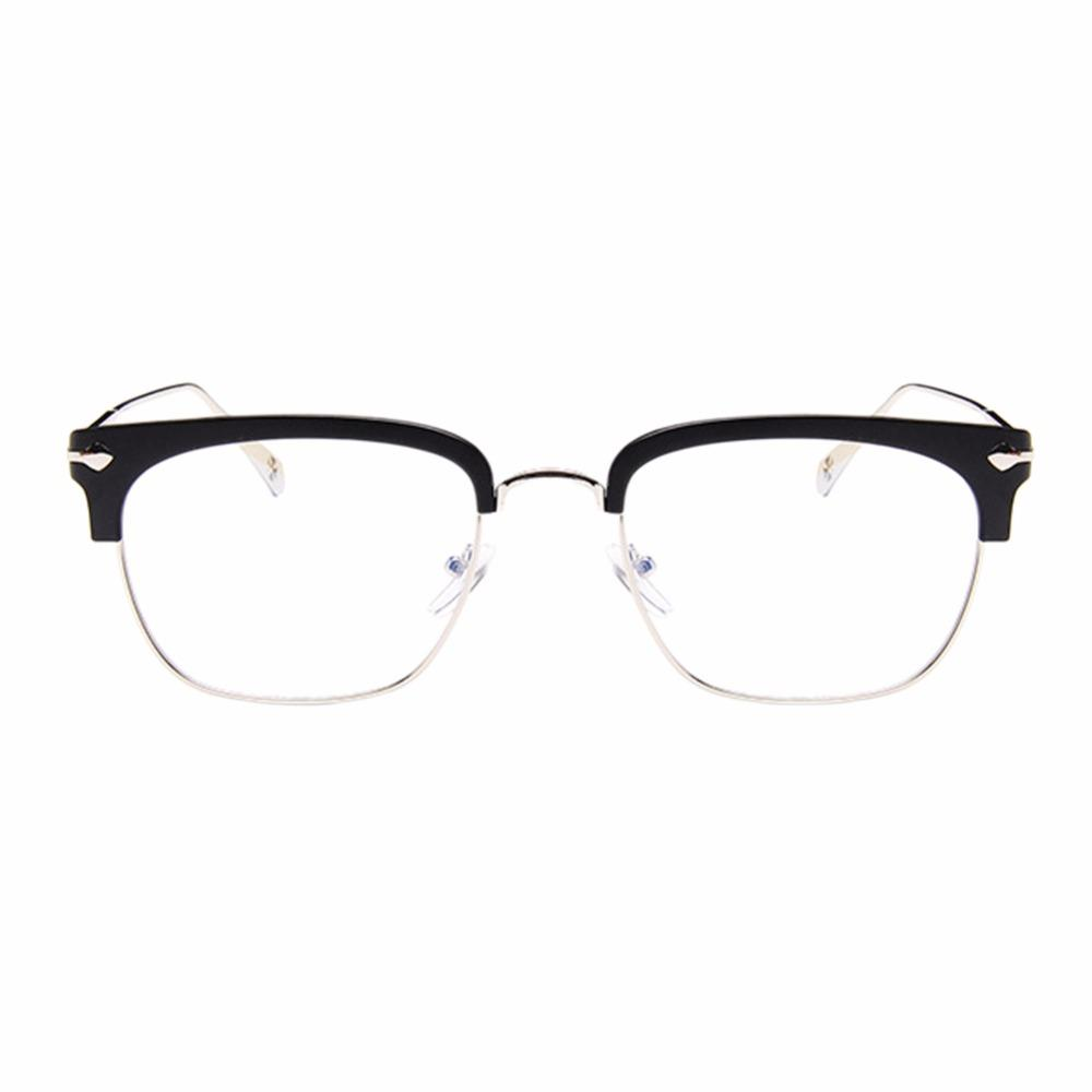 ae7574d742aa 2019 Retro Half Frame Nearsighted Glasses Myopia Eyeglasses Spectacles  0.75~ 6.00 Matte Black From Zaonoodle