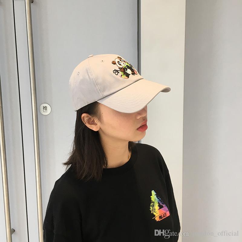 SNAP STRAP Cute Panda bordado Papá sombreros Vintage Hiphop estilo BaseBall Gorras para hombres Mujeres en Negro Gris Ajustable Strapback Uno se adapta a todos