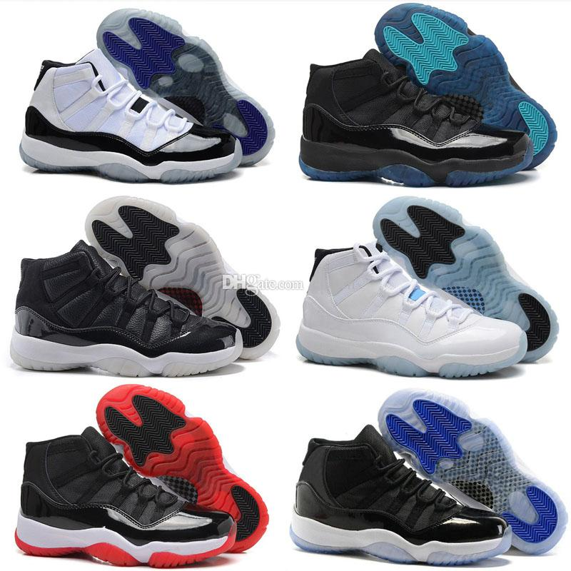 11 Gym Red Chicago 11s Prom Night Concord Space Jam Legend Gamma Blue Midnight Navy Basketball Shoes XI Bred Men&Woman Sports Shoe Athletics