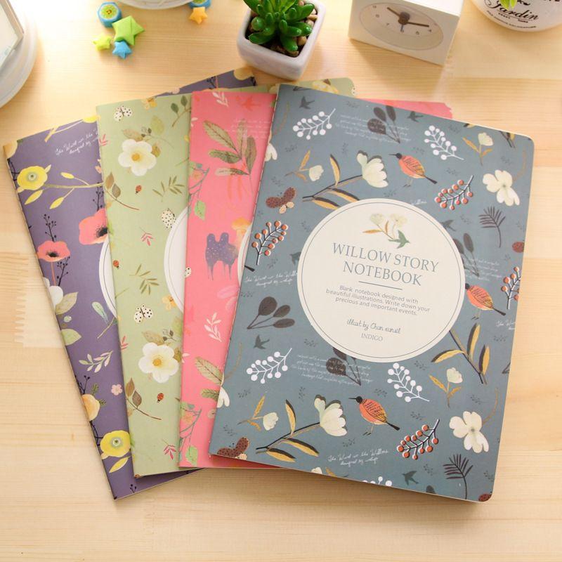 Compre Joudoo Corea Lindo Cuaderno Creativo A4 Patron De Flores