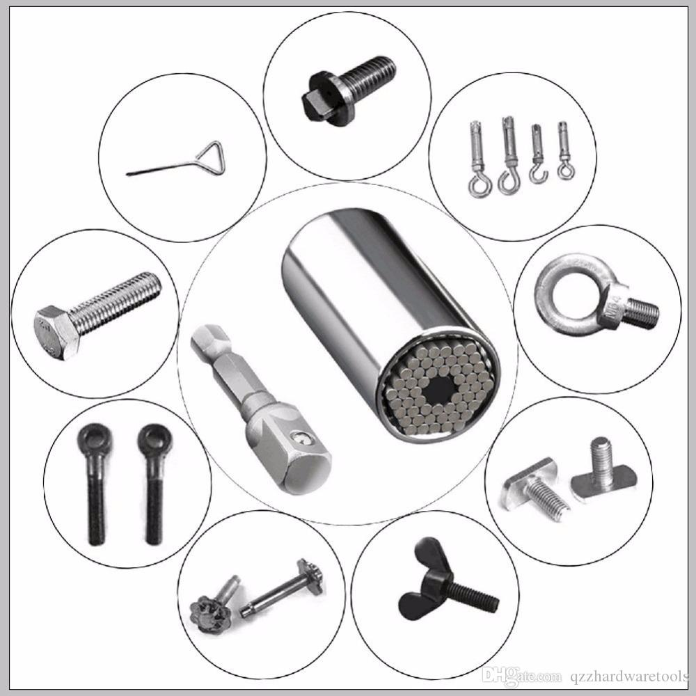 Multi Wrench Tool Ratchet Spanner Wrench Tools Sets 7-19mm Drill Adapter For Car Hand Tools Repair Kit Socket Adapter Set