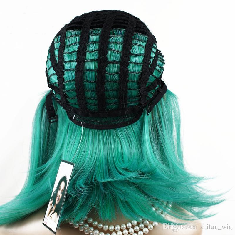 Parrucche diritte Bob di ZF Parrucche di capelli sintetici resistenti al calore Parrucca afro-americana delle donne Capelli nuovi le donne