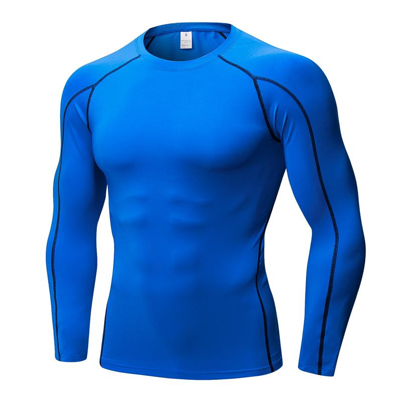 e15d7bd64a8 Vertvie Men s O-Neck Sports Tee Shirts Solid Blue Running Tight Tees Tops  Men Skinny Soft Long Sleeve Sport Tops Smooth Cool Tee Running T-Shirts  Cheap ...