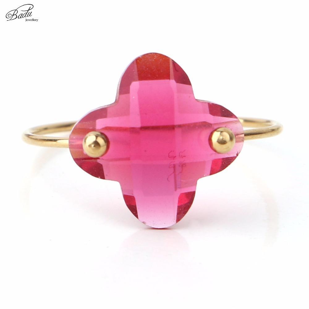 Best Whole Salebadu Stainless Steel Ring Women Silver Simple Fashion ...