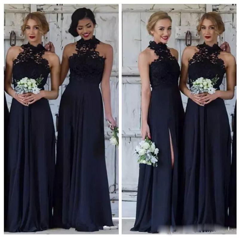 Chegada nova Chiffon Da Dama de Honra Vestidos de Casamento Elegante Convidado Vestido Custom Made Sereia Até O Chão Ocasião Especial das Mulheres Vestido