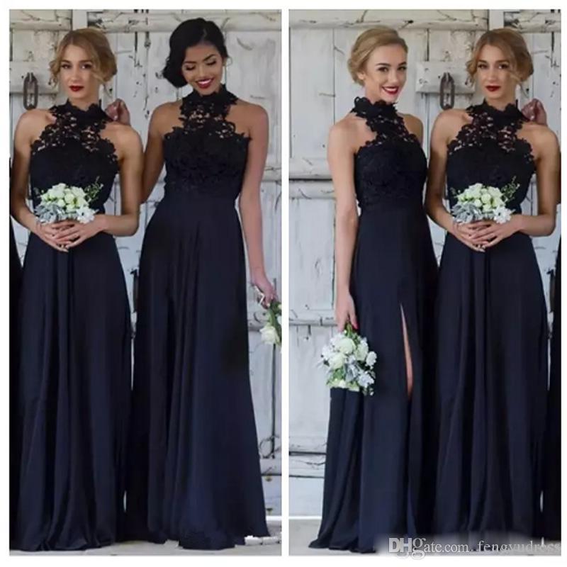 Nueva llegada vestidos de dama de honor de gasa elegante vestido de invitados de boda por encargo sirena piso de longitud vestido de mujer de ocasión especial